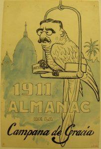 Picarol (caricatura de José Canalejas), portada del Almanac de La Campana de Gràcia per a 1911 (083591-D), 1910