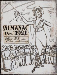 Juan Gris, portada interior del Almanac de L'Esquella de la Torratxa per a 1921 (078098-D), 1911