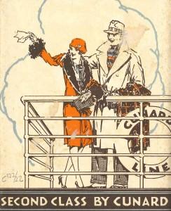 Fullet publicitari de la segona classe de la companyia Cunard Line