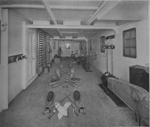 Image of the gymnasium of the ship Adriatic