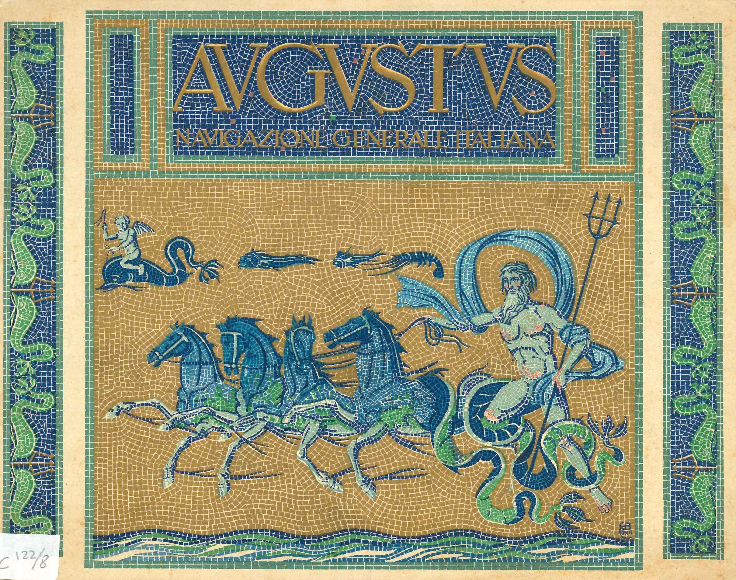 Cover of the brochure of the ship Augustus