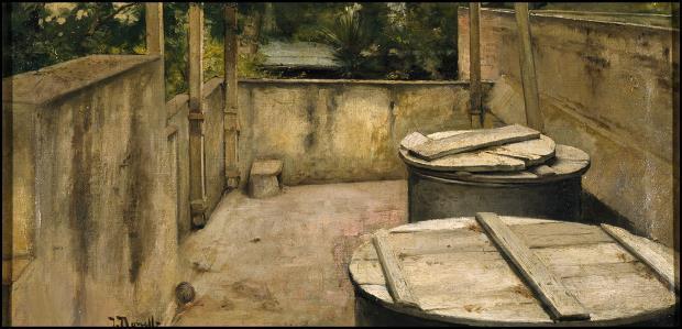 Isidre Nonell. El terrat, cap a 1894-1896. Museo Nacional Centro de Arte Reina Sofía (MNCARS), Madrid. Domini públic, Wikimedia Commons