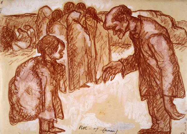 Isidre Nonell, Noi, m'hi trobo bé fent de pobre (Gitanos), 1909