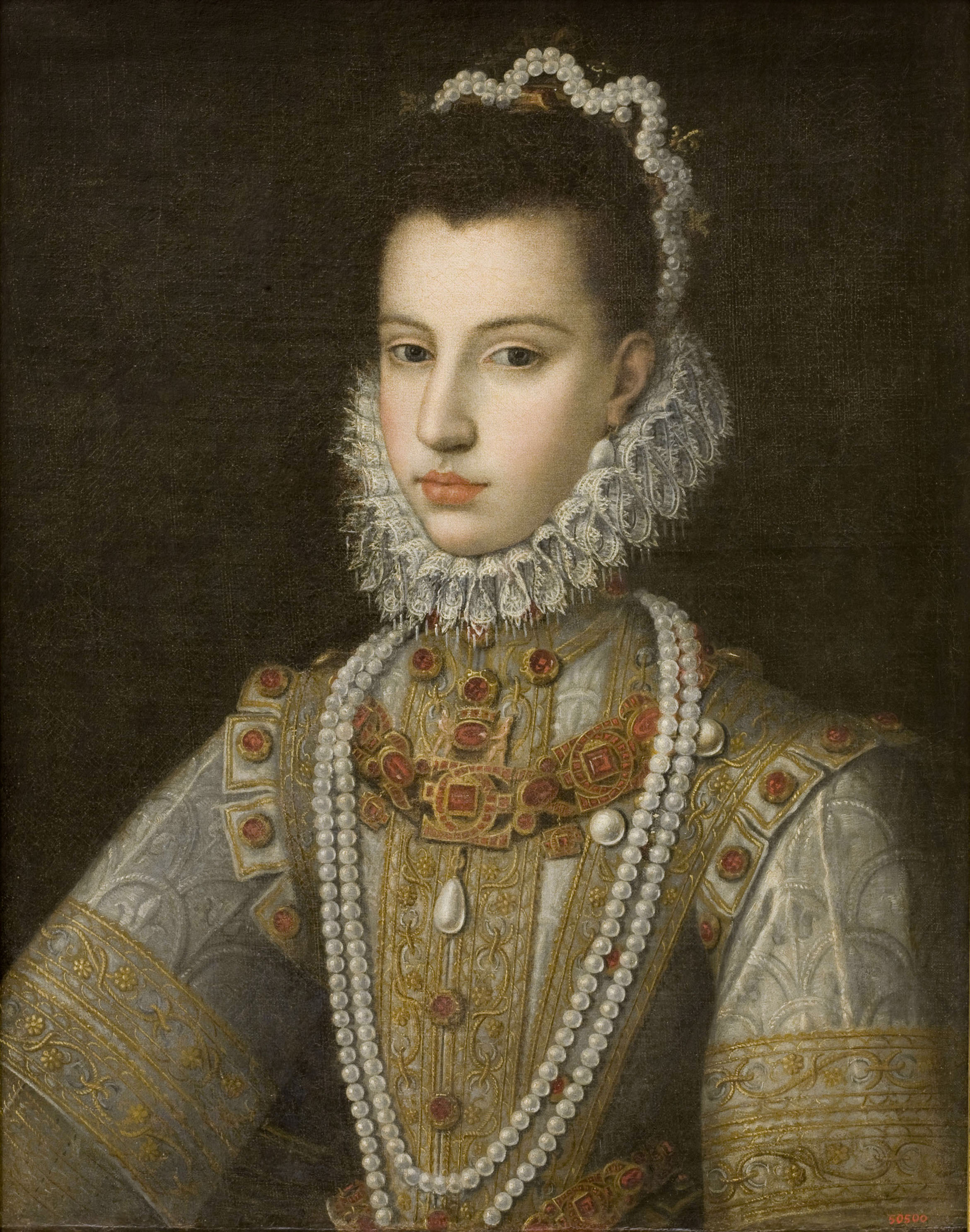 Jan Kraeck, Portrait of the Infanta Catherine Michelle, 1584-1585