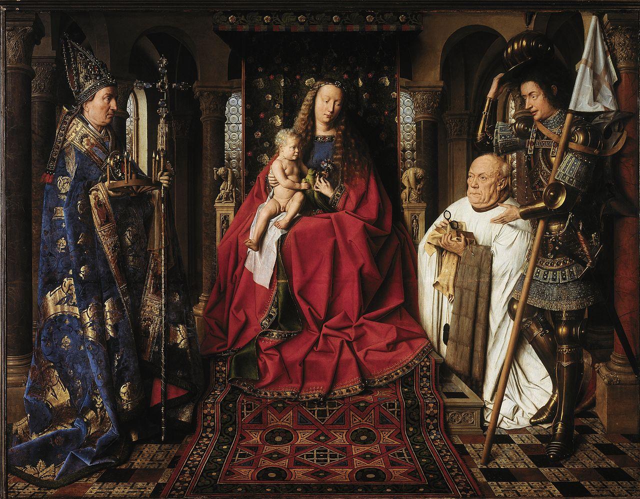Jan Van Eyck, Virgen del Canónigo, 1436. Fuente: Wikimedia Commons, dominio público