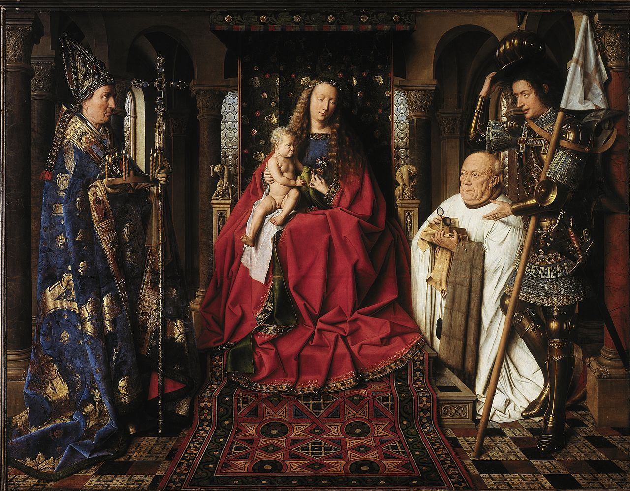 Jan Van Eyck, Verge del Canonge, 1436. Font: Wikimedia Commons, domini públic