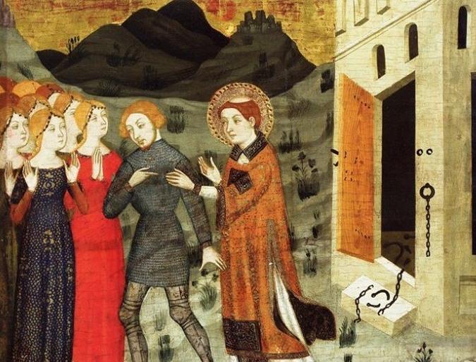 Jaume Serra, Alliberament de Galceran de Pinós del Retaule de sant Esteve de Gualter, cap a 1385