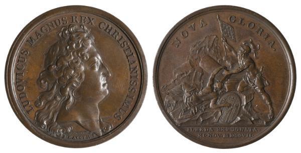 Jean Mauger, Toma de Lleida durante la Guerra de Sucesión (1707), antes de 1723, bronce