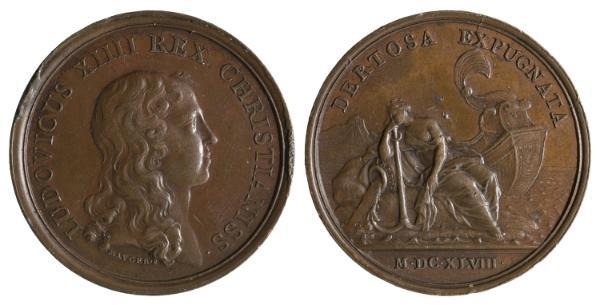 Jean Mauger, Toma de Tortosa durante la Guerra de los Segadores (1648), antes de 1702, bronce