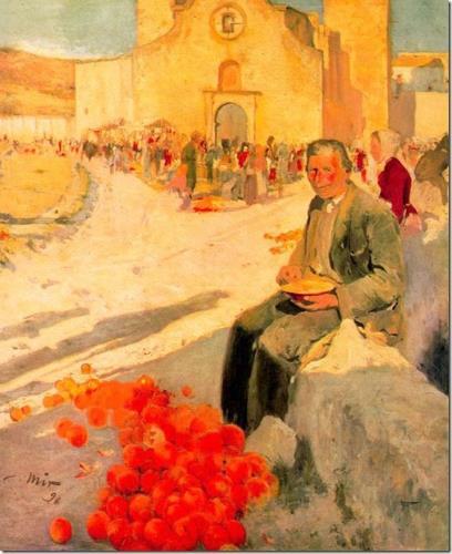 Joaquim Mir. El venedor de taronges, 1896. Col·lecció particular