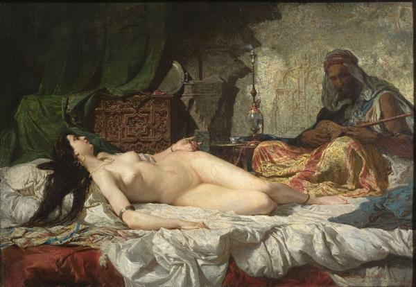 Mariano Fortuny, The Odalisque, circa 1871-1872