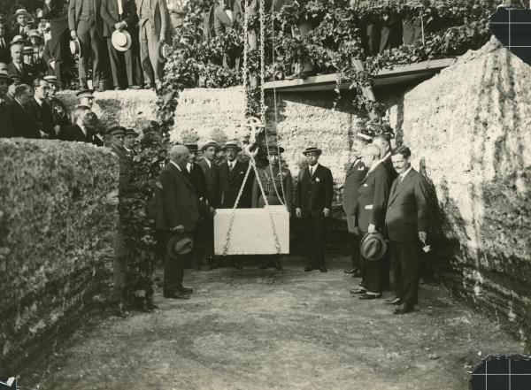 The ceremony marking the Laying of the cornerstone, the 30th of June 1926