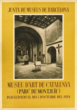 La inauguració del Museu d'Art de Catalunya es va anunciar amb aquest cartell publicitari