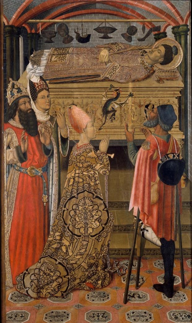La princesa Eudòxia davant la tomba de sant Esteve