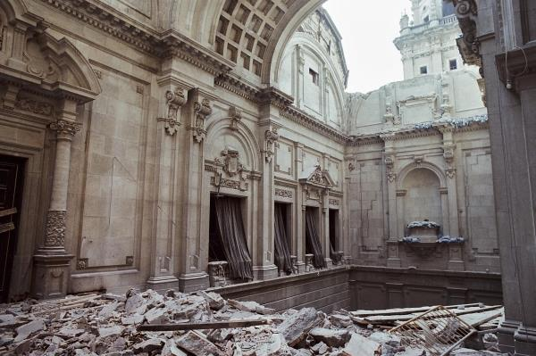 The area occupied by the former great staircase of the Palau Nacional is the area that will see the greatest changes