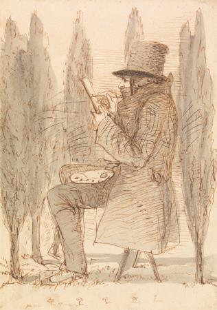 L'artista fent un esbós, James Smatham. ©Yale Center for British Art, Paul Mellon Fund