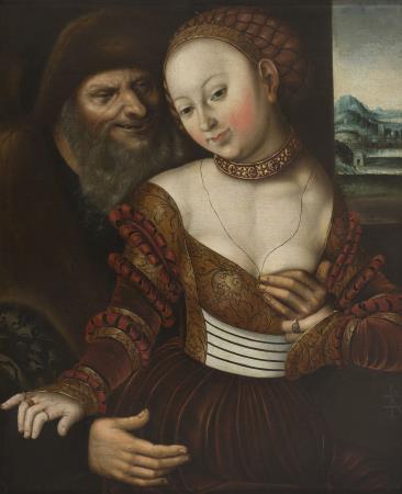 Lucas Cranach (el Vell), Parella d'amants desigual, entre 1530-1550