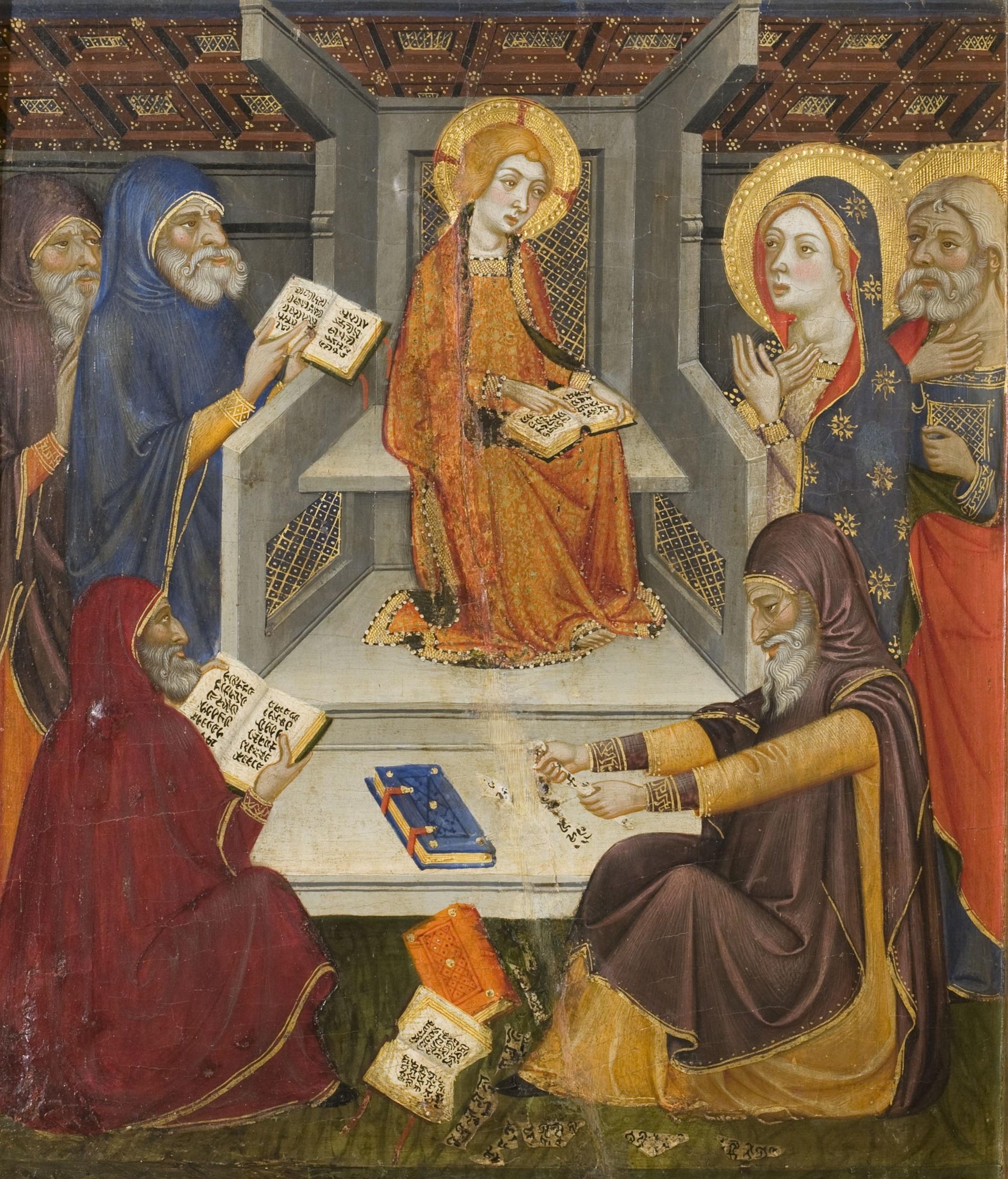 Retablo de la Virgen y la eucaristia