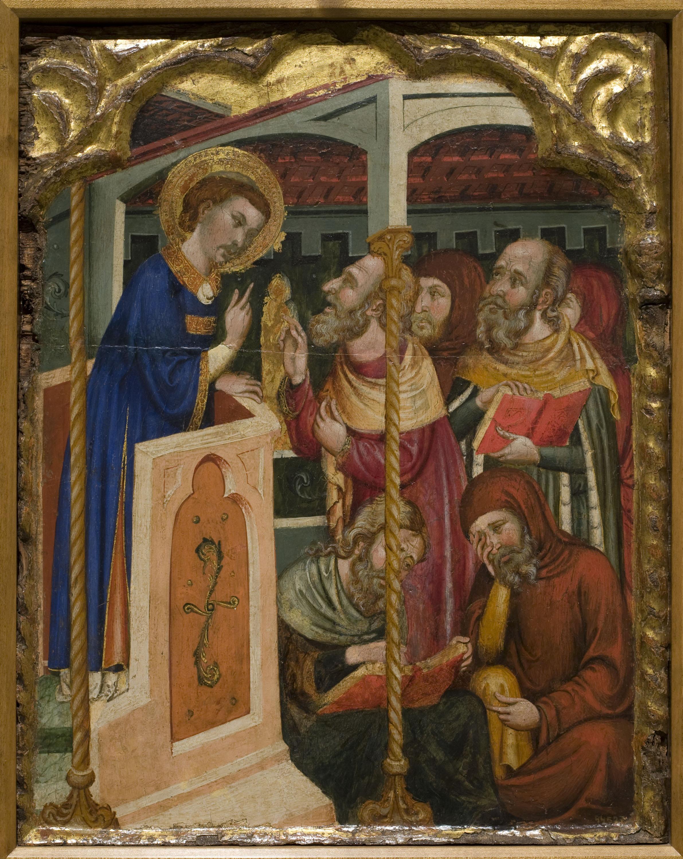 Disputa de san Esteban con los judíos