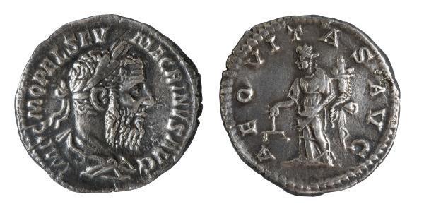 Macrí (217-218), Denario de Roma. Museu Nacional