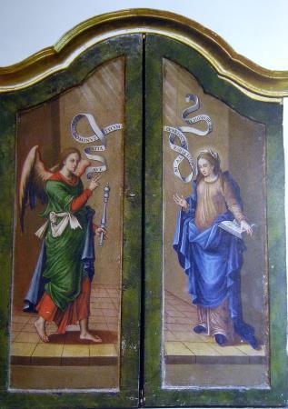 Mestre del fill pròdig , Anunciació, Tríptic del Davallament , Església de Rueda