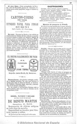 Marca registrada de la fàbrica Joan Torra, Almanaque Bailly-Baillere ó sea Pequeña enciclopedia popular de la vida práctica, Madrid, 1896