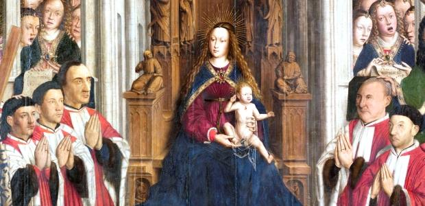 LLUÍS DALMAU, Mare de Déu dels Consellers, 1443-1445 (MNAC 15938). Detall.