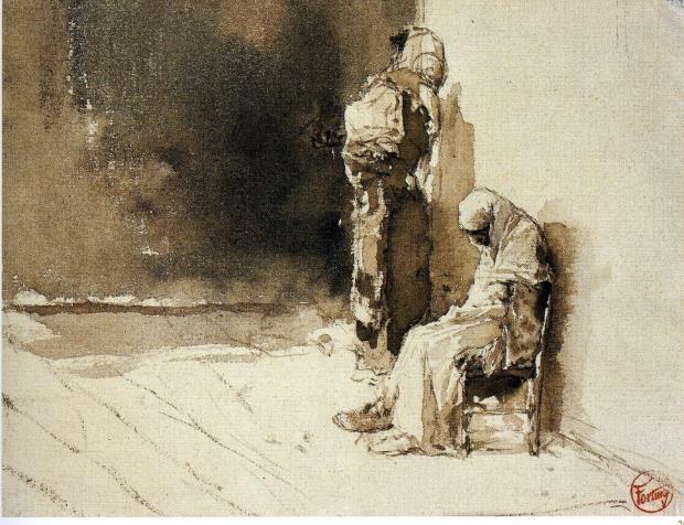 Marià Fortuny,  Deux mendiants. Musée Goya de Castres