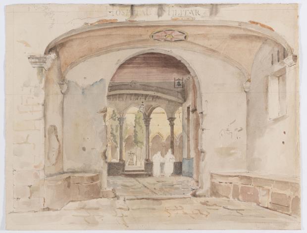 Monestir de Santa Maria de Jonqueres, Alphonse Delamare, 1827 ©Museu Nacional d'Art de Catalunya