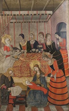 Pere Garcia de Benavarri, Naixament de Sant Joan Baptista, cap a 1473-82