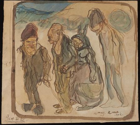 Isidre Nonell, Gente de bien (Cretinos), 1902. Colección particular, Barcelona