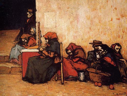 Isidre Nonell, Pobres esperant la sopa, 1899. Museu de Montserrat.