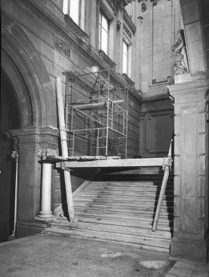Works to the main staircase in August 1970.