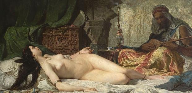 Mariano Fortuny. La odalisca. Roma, 1861.