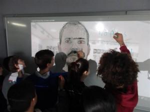 Treball a l'aula amb l'artista