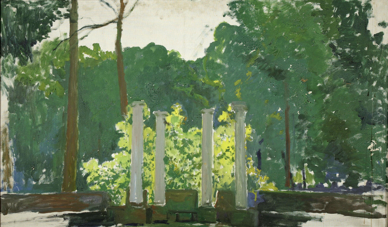 Santiago Rusiñol, Landscape. Aranjuez (unfinished work), 1931