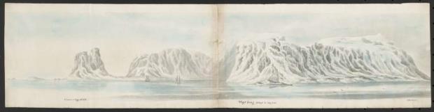 Panoràmica de Vogel Sang i Cloven Cliff (Noruega), Frederick William Beechey, 1818. ©National Library of Australia