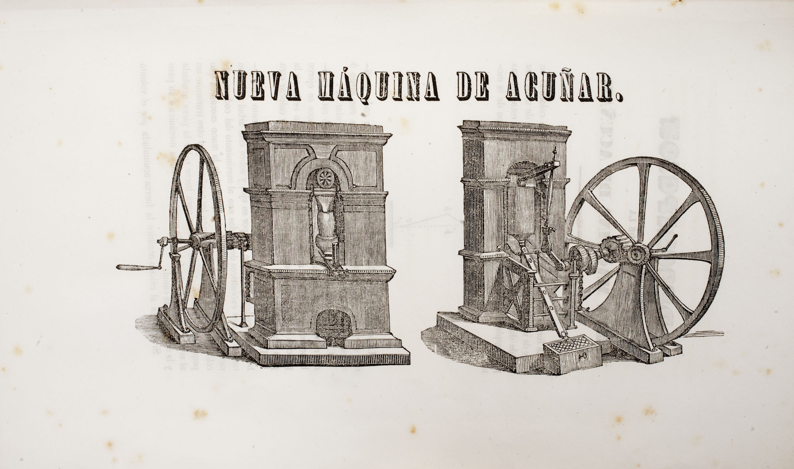 A print showing a Thonnelier press published by Francesc Paradaltas (1845). Photo:  Museu Nacional d'Art de Catalunya (Jordi Calveras)