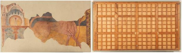 Pardus y arquitectura, anverso y reverso ( dimensiones 189,5 x 326,5 x 5,5). Fotografía: fotógrafos del Museu Nacional