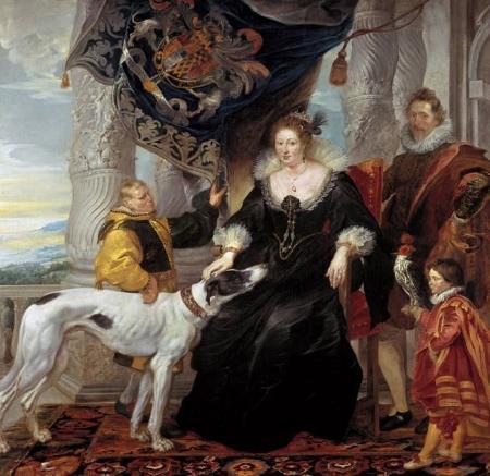 Peter Paul Rubens, Porträt der Aletheia Talbot, Gräfin Arundel, 1620. Alte Pinakothek, Munic