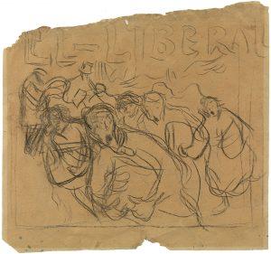 Picasso. Estudi per a cartell del diari El Liberal Barcelona, 1900. Museu Picasso Barcelona