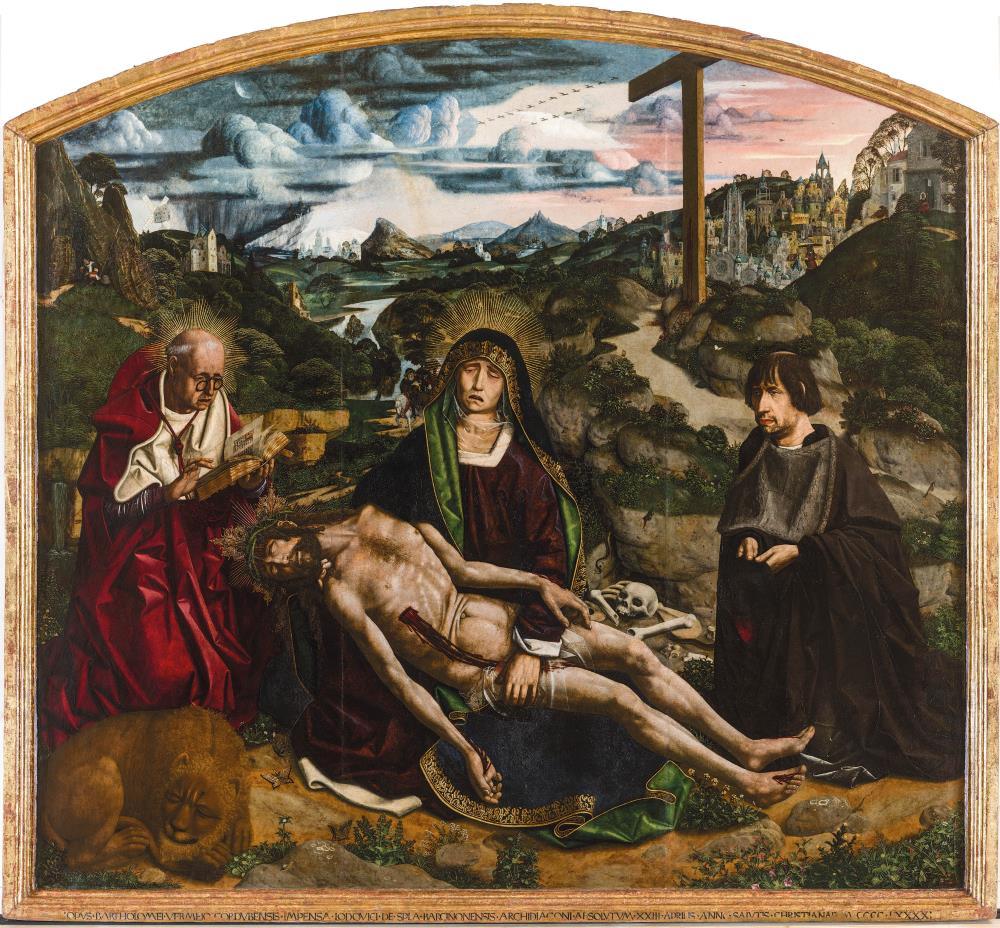 Bartolomé Bermejo. Piedad Desplá, 1490