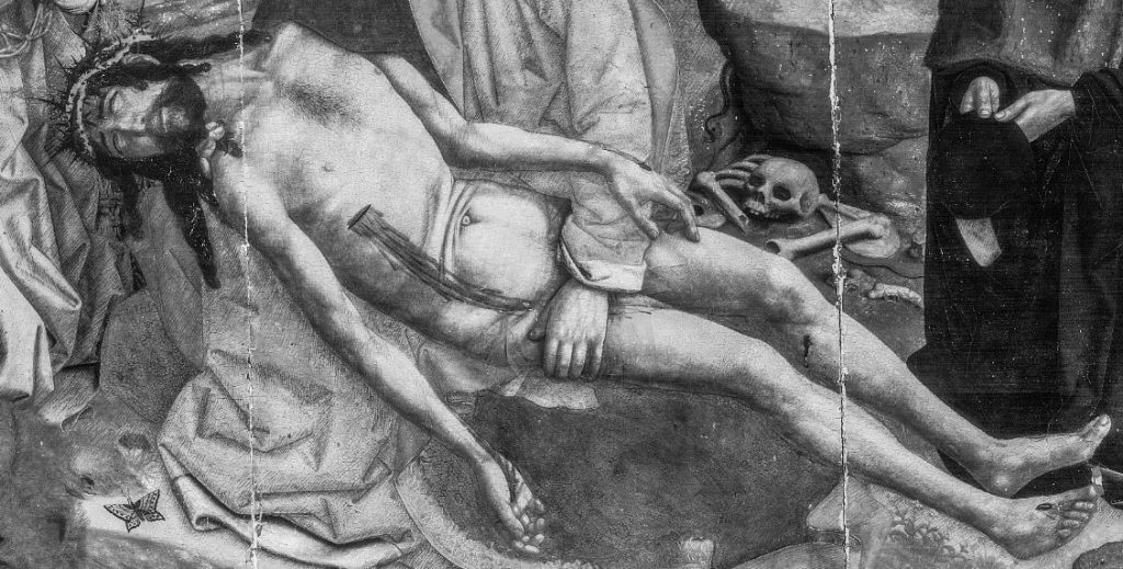 Desplà Pietà: detail of the reflectogram