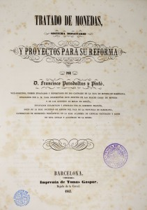 Cover of the Tratado de monedas (Treatise on Coinage, 1847). Photo: Museu Nacional d'Art de Catalunya (Jordi Calveras)