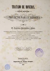 Portada del Tratado de monedas (1847). Foto: Museu Nacional d'Art de Catalunya (Jordi Calveras)