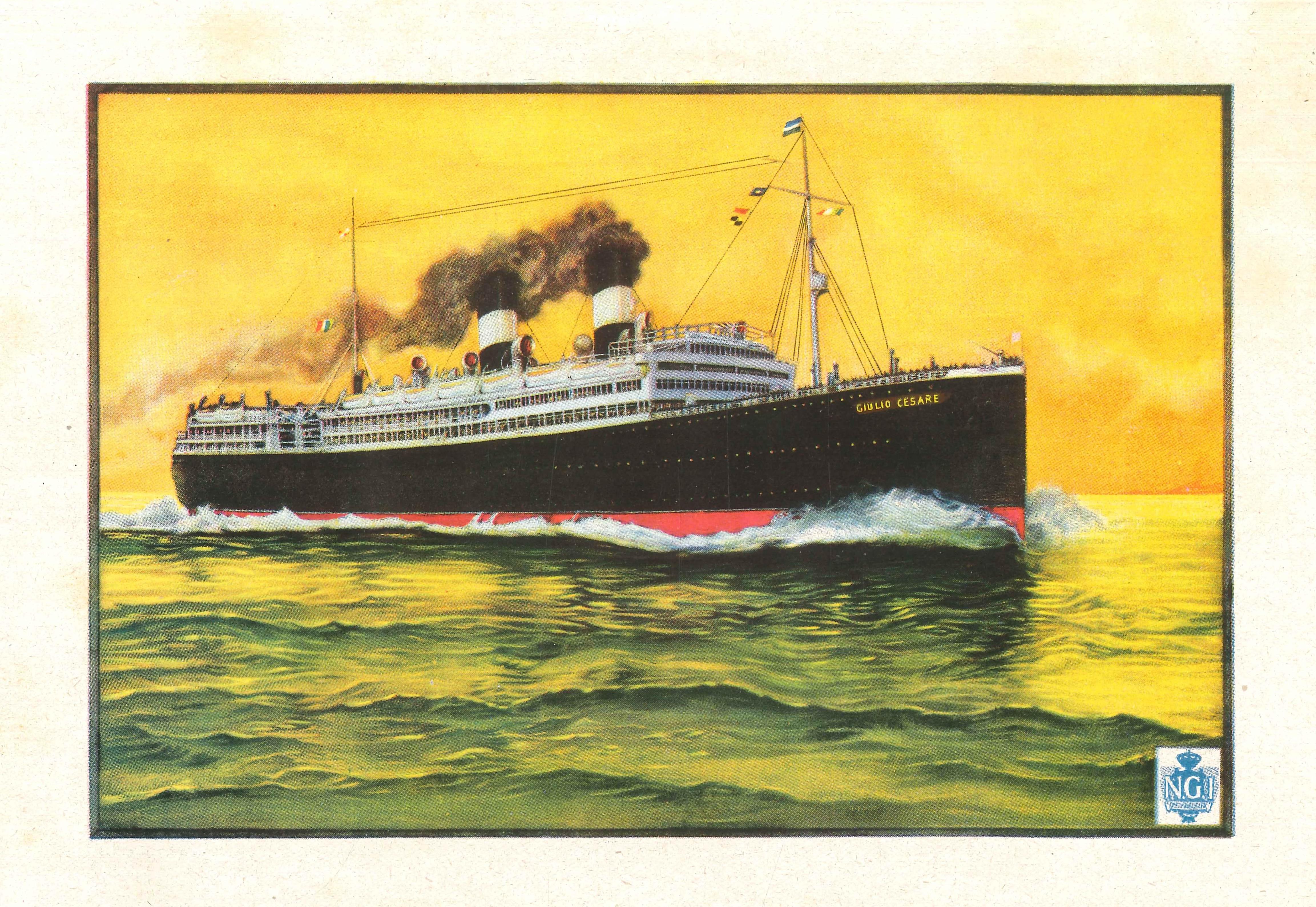 Fullet del vaixell Giulio Cesare de Navigazione Generale Italiana