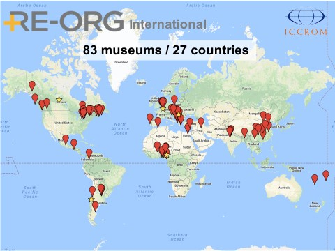 Mapa dels museus amb personal format en Re-Org