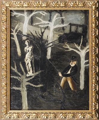 Remedios Varo. Accidentalidad de la mujer - Violencia (1932-1936). Museu Nacional d'Art de Catalunya.