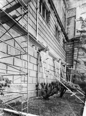 Repairs to the exterior in March 1968