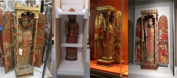The Altarpiece-tabernacle of Saint Nicholas in the museum storeroom